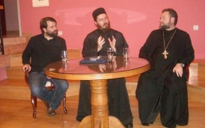 Предавање хиландарског монаха Доситеја у Лазарици