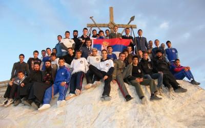 Ученици Војне гимназије на врху Атоса