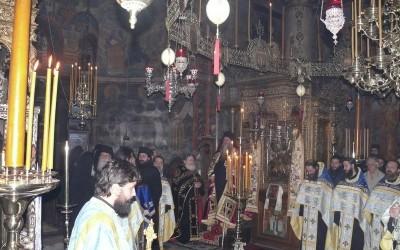 Епископ Хризостом у посети Светој Гори