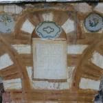 Натпис испод кровног венца на источној фасади са годином 1814.