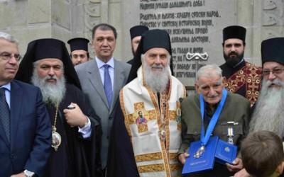 Патријарх српски г. Иринеј на Зејтинлику