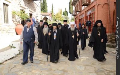 Патријарх српски Иринеј у посети Светој Гори