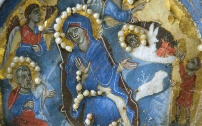 Рождество, Венецијански диптих, детаљ, 1300. г.