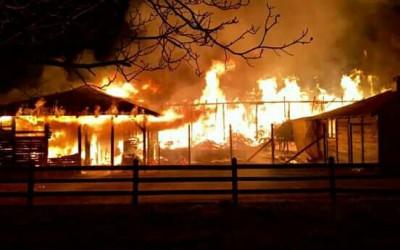 Пожар у складишту на метоху Мило Арсеница
