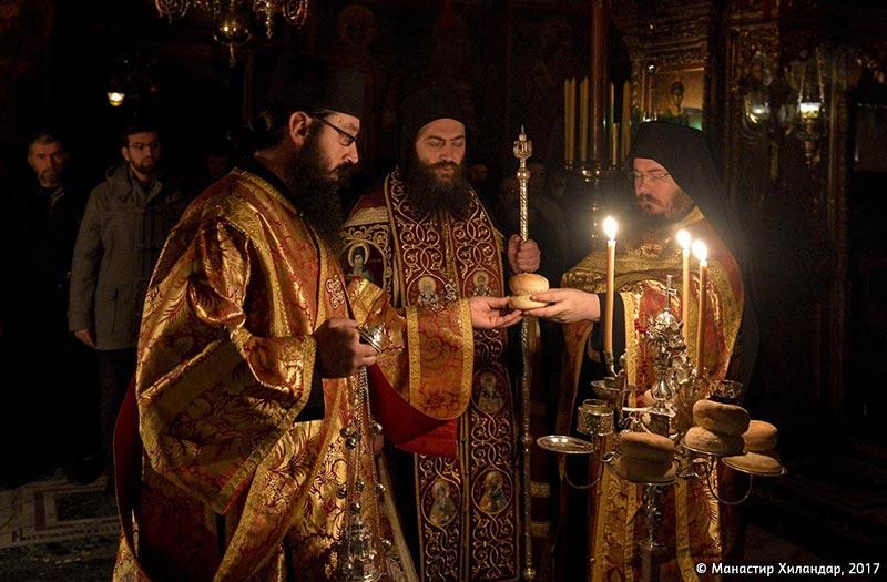 (Фото) Празник Рођења Христовог у Хиландару