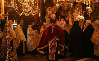 Игуман Методије на Благовести у манастиру Ватопеду