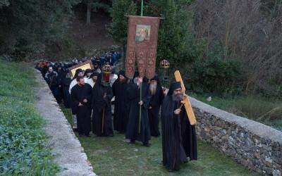 Крстовдан и Богојављење у Хиландару (фото)