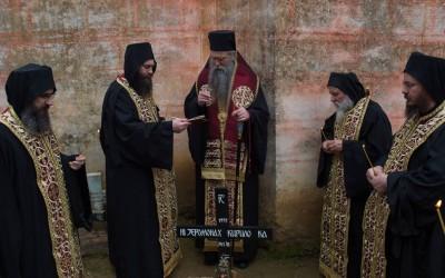 Епископ Јоаникије служио помен оцу Кирилу Хиландарцу