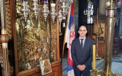 Принц Михаило Карађорђевић у посети Хиландару