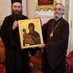 Игуман Методије са братијом у посети Епископу Јефрему