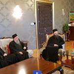 Игуман Методије са братијом у посети председнику Додику