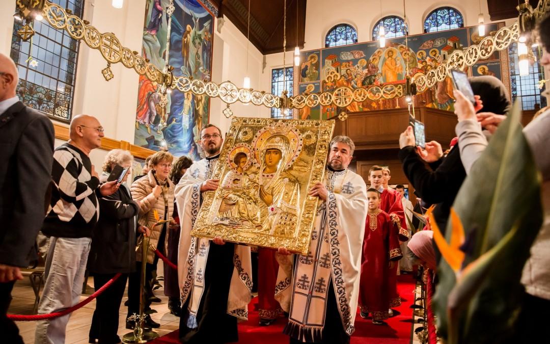 Икона Пресвете Богородице Тројеручице у Цириху (видео)