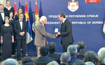 Проф. др Мирко Ковачевић добитник Златне медаље за заслуге Р. Србије