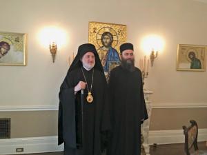 Игуман Методије и архиепископ Елпидофор