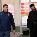 Игуман Хиландара у посети ФК Црвена звезда