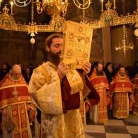 Саборна литургија светогорских игумана у Кареји