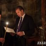 Божићна посета председника Вучића Хиландару