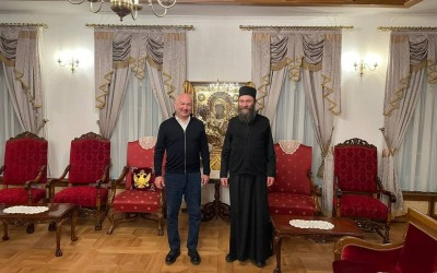 Ненад Поповић у Хиландару