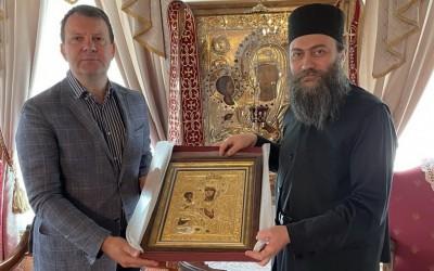 Игор Мировић у Хиландару