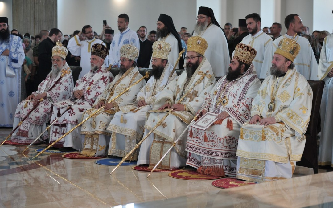 Игуман Методије на устоличењу Епископа ваљевског Исихија