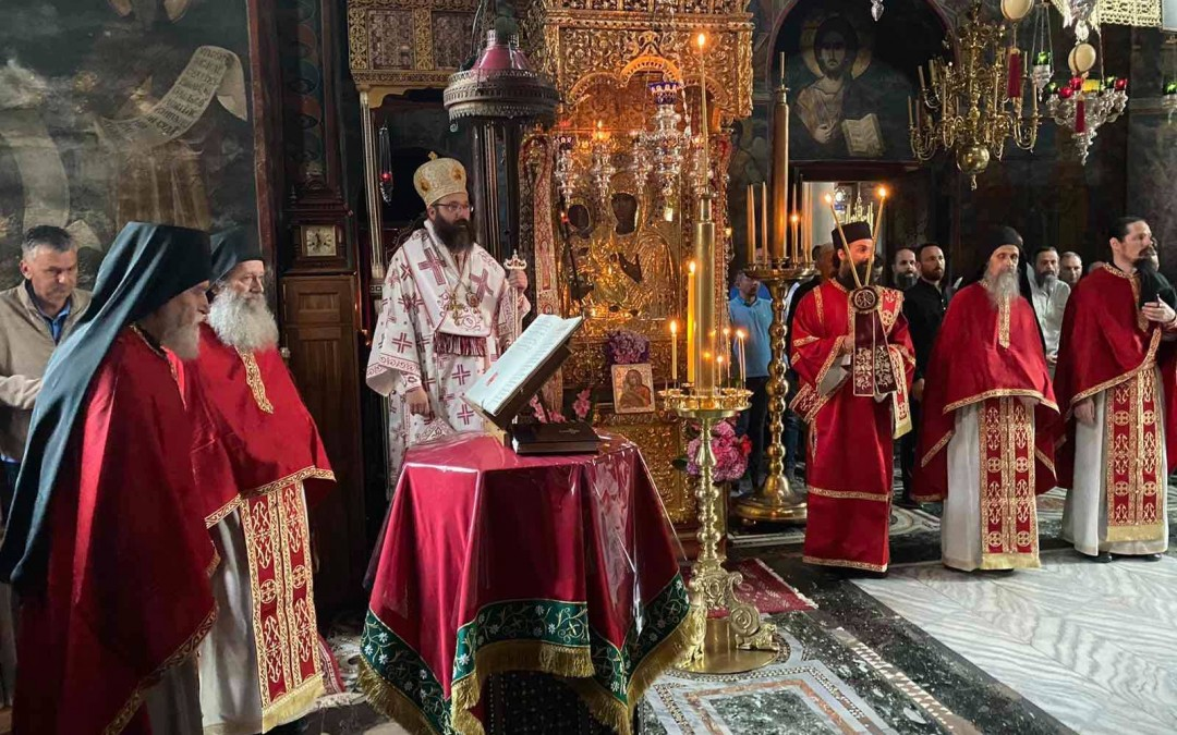 Епископ аустралијско-новозеландски г. Силуан на Петровдан у Хиландару
