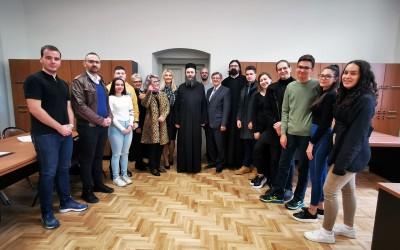 Игуман Хиландара у посети Земунској гимназији